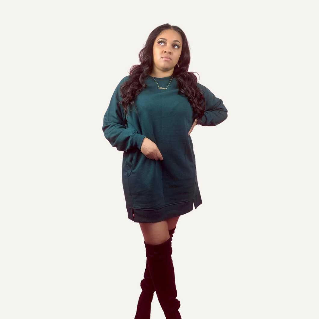 Sweatshirt Dress | Hunter Green