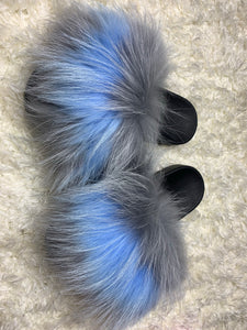 Blue/Gray Fur Slides