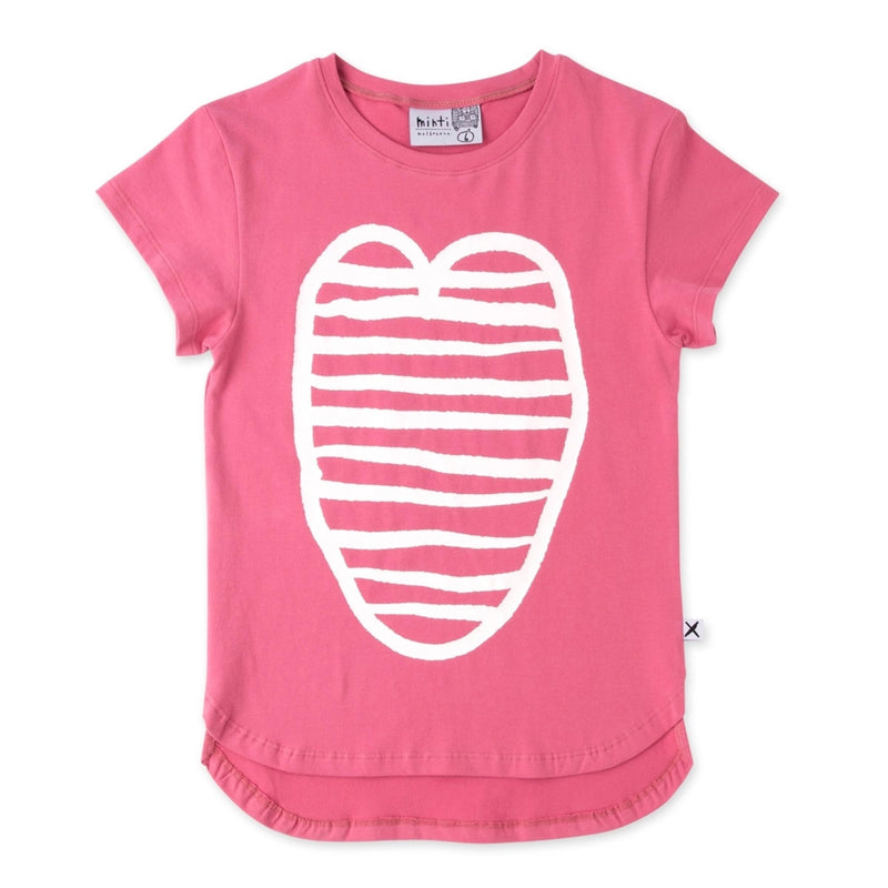 Minti Striped Hearts Tee in Pink
