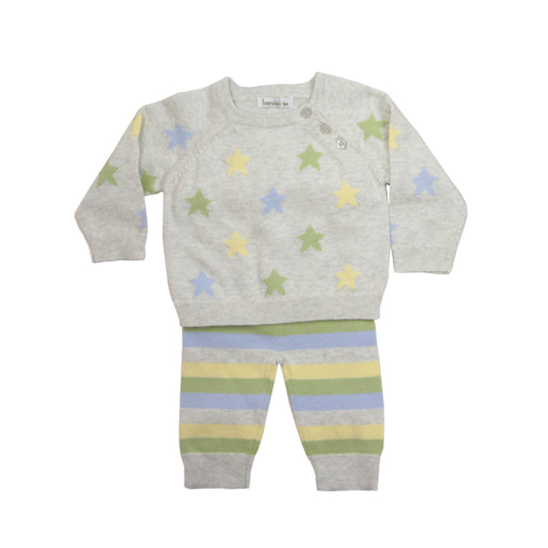 Beanstork Star Stripe Set in multi colour