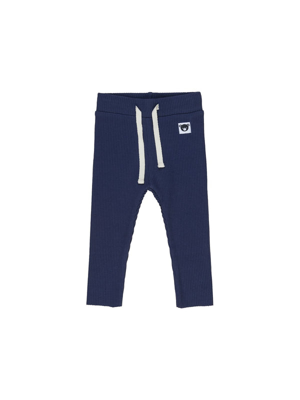 Huxbaby Rib Legging in dark blue
