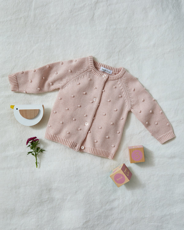 Beanstork Bobble knit Cardigan in pink