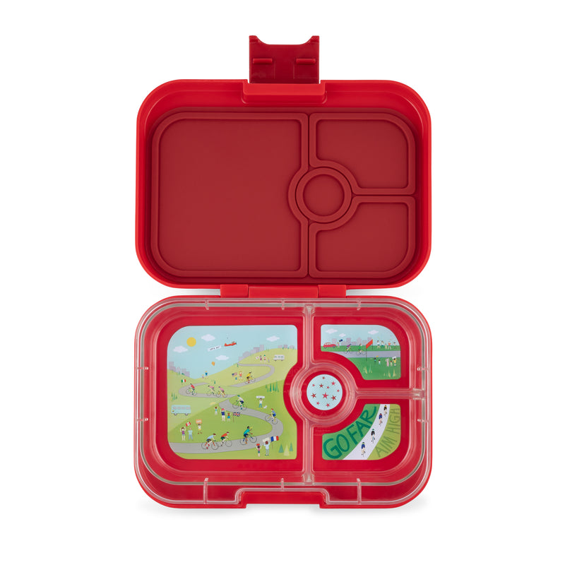 YumBox PANINO Bento Lunch Box Race in Wow Red