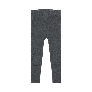rock your baby knee patch tights in charcoal brushed cotton on a plain background