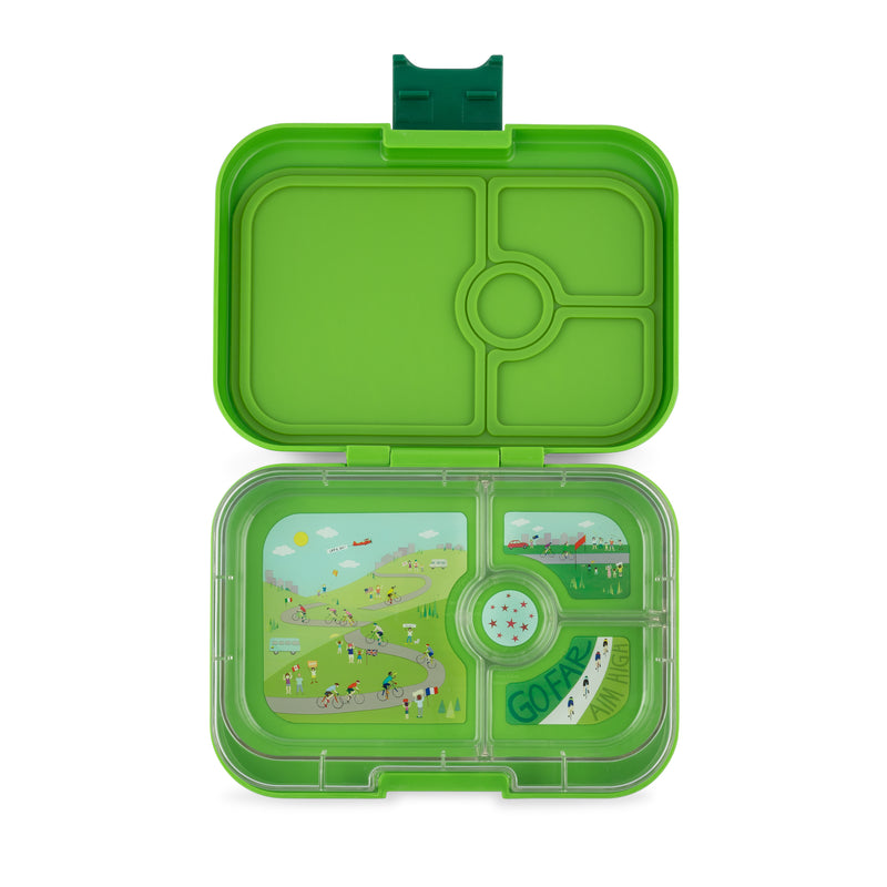 YumBox PANINO Bento Lunch Box Race in Go Green