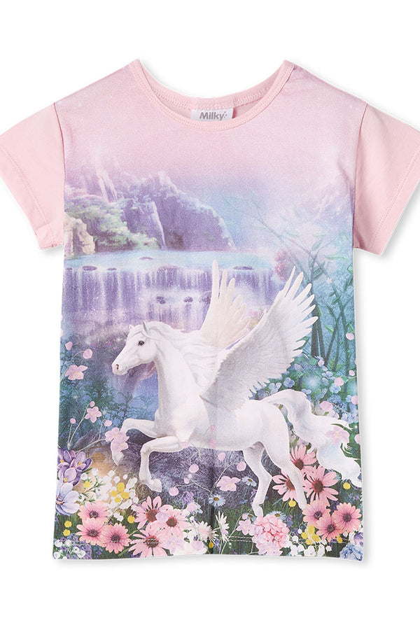 Milky Clothing Pegasus Tee in multi colour print