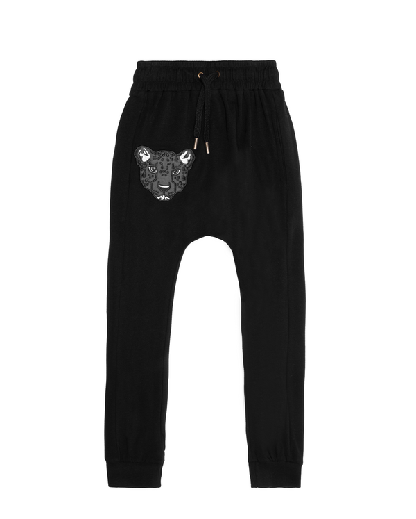 Band of Boys Super Slouch Pants Cheetah face in black