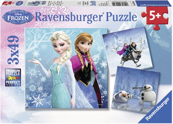Ravensburger Puzzles - Frozen 2 Winter Adventures Puzzle 3x49 pieces 5+