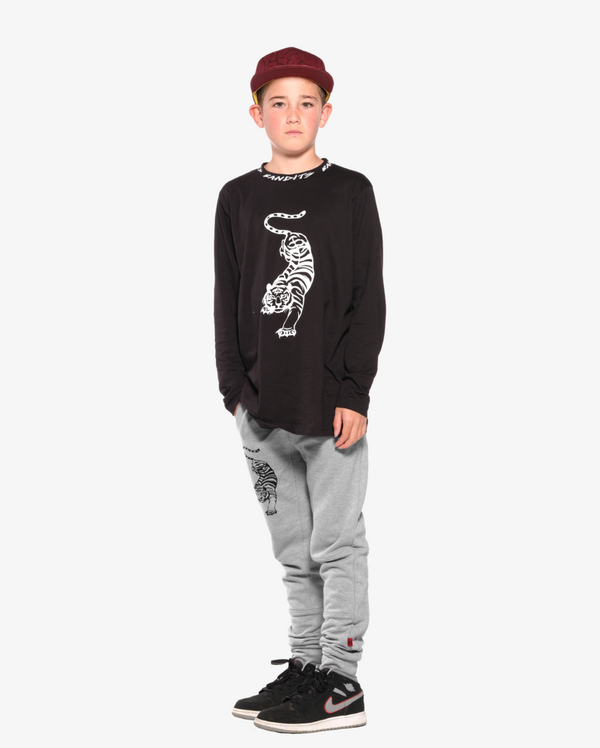 Band of Boys LS T-Shirt Crouching Tiger in Black