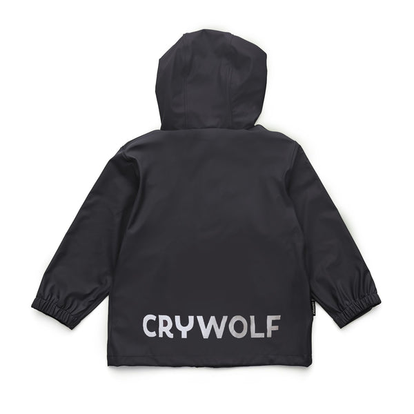 Crywolf Rain Jacket Coat in black