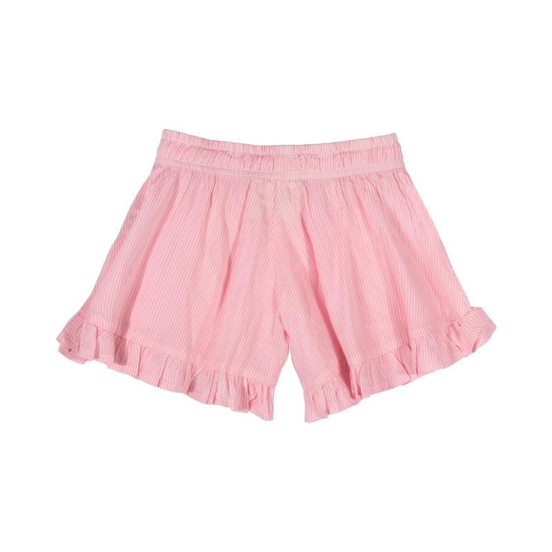 Frilled Shorts - Pink Stripe in pink