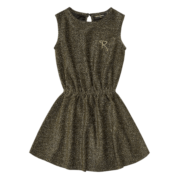 Rock Your Baby Gold Disco sleeveless dress
