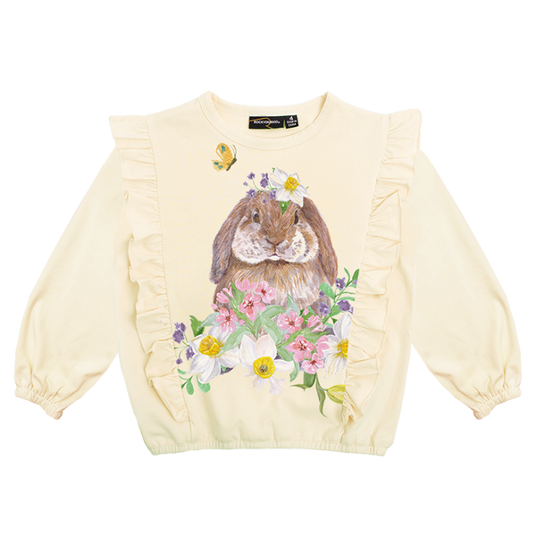 Rock Your Baby Bunny Blossum T-Shirt in cream