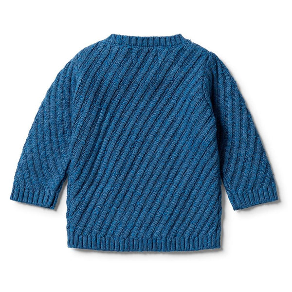 Wilson & Frenchy Knitted Jacquard Jumper - Denim Fleck