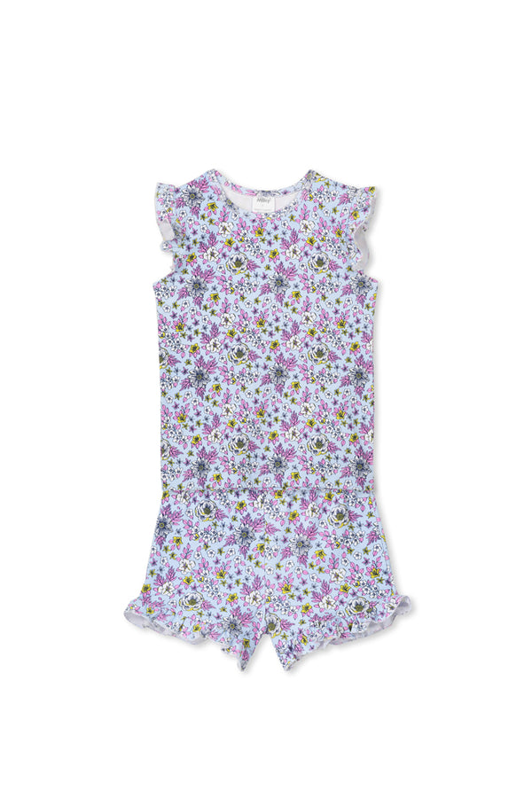 Milky Clothing  Floral PJ's in blue