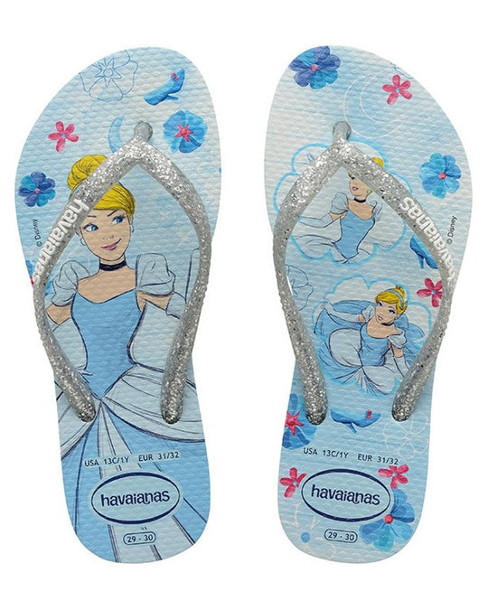 Havaianas Kids Rubber thongs Princess in multi colour print