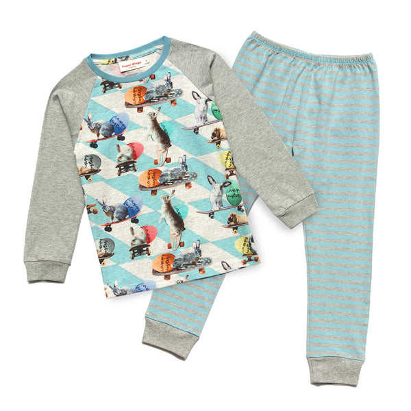 Paper Wings Easter Bunny Adventures boys long sleeve Pjs