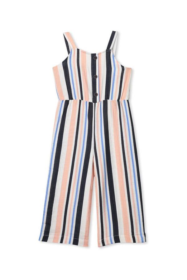 Milky Clothing Stripe Playsuit in multi colour stripe