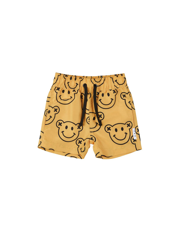 Huxbaby Smiley Swim Shorts  in yellow