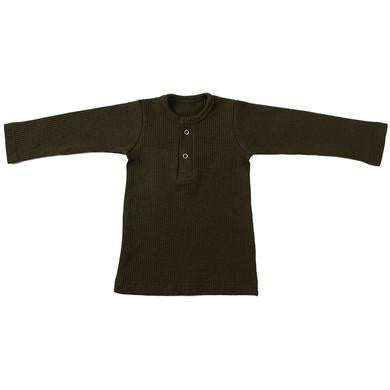 Ponchik Henley long sleeve tee Green
