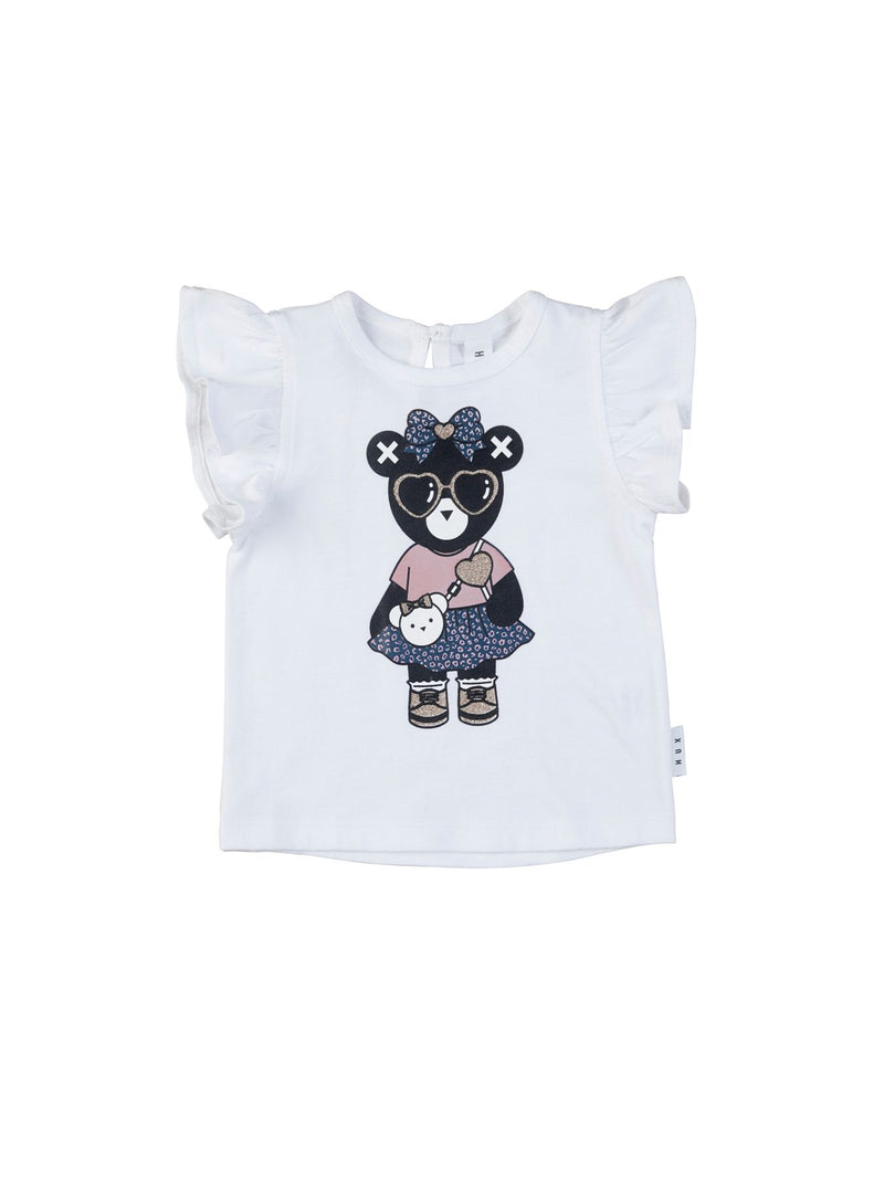 Huxbaby Hux girl Bow T-Shirt in white