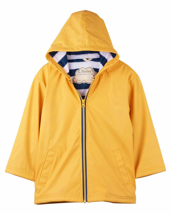 Hatley Splash Jacket in Navy and Yellow