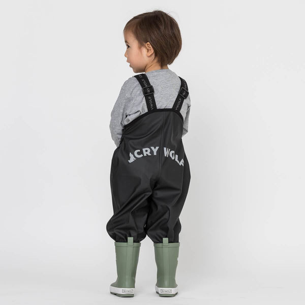 CryWolf Rain Overalls in Black