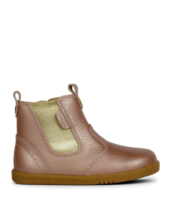 Bobux I Walk Jodhpur Boot Rose Gold  in pink