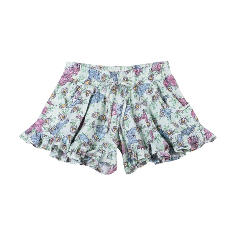 Paper Wings Frilled Shorts Butterfly Daisies