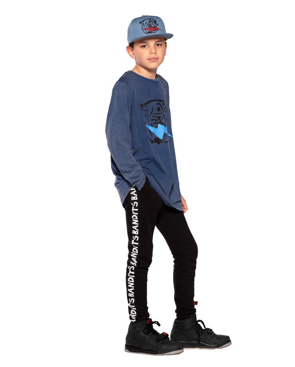 Band of Boys Bandits L-Sleeve Tee Lightning Tiger in blue