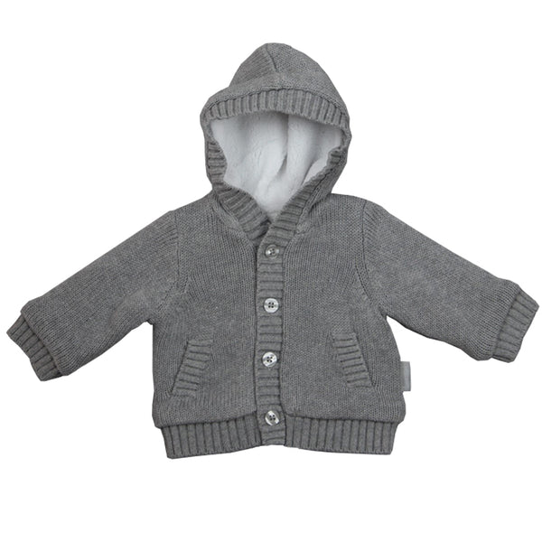 Beanstork Hooded Cardigan charcoal in grey