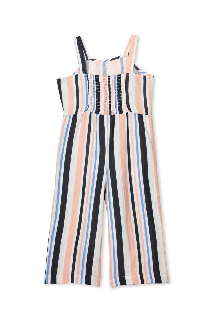Milky Clothing Stripe Playsuit in white
