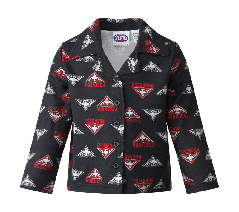 Essendon Bombers official AFL  youth winter pyjamas flannelette