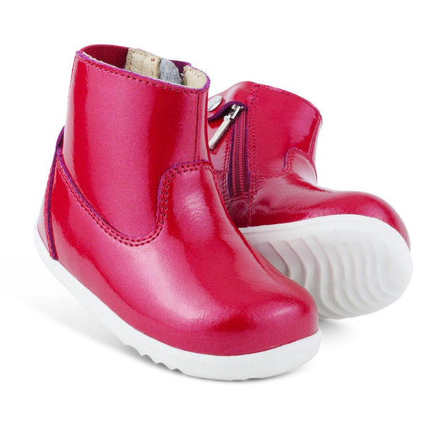 Bobux Step-up Paddington Waterproof Boot Cherry in Red