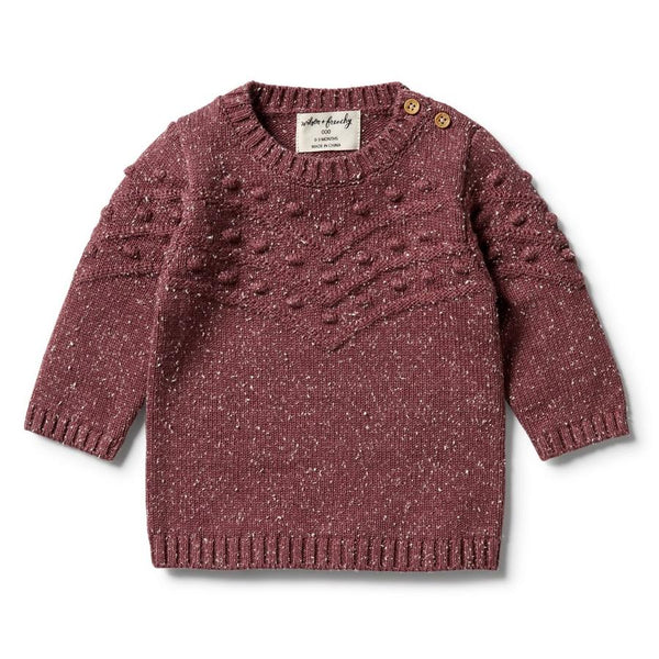 Wilson & Frenchy Knitted Bauble Jumper Wild Ginger fleck