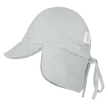 Toshi baby flap cap Sage in green