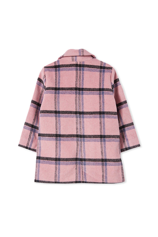 Milky Clothing Check Jacket in pink