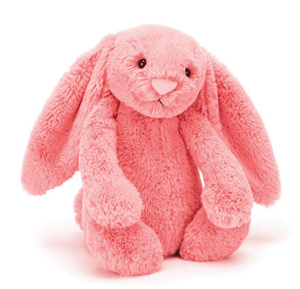 Jellycat Bashful Bunny Coral Medium  in pink