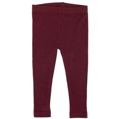 Ponchik Ribbed Leggings Burgundy