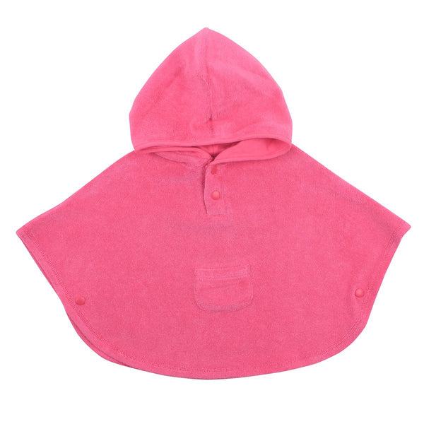 Bebe Hooded Poncho in pink