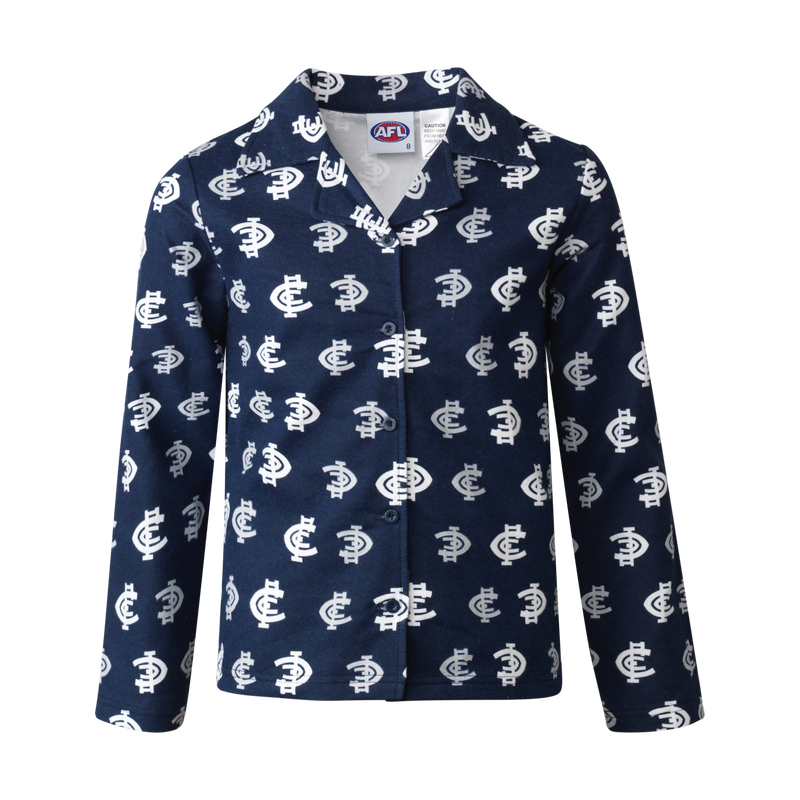 Carlton  Blues Official AFL Flannelette Toddler Sleepwear