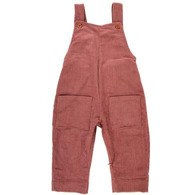 Ponchik Cord Overalls in Pink