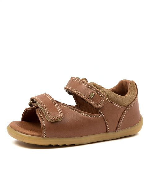 Bobux Step up Driftwood Sandal - Caramel in brown
