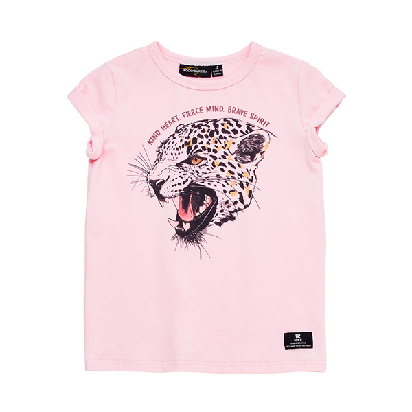Rock Your baby Kind heart fierce mind SS T-shirt in Pink