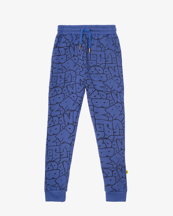 Band of Boys Skinny Track Pant Bubble Logo in blue