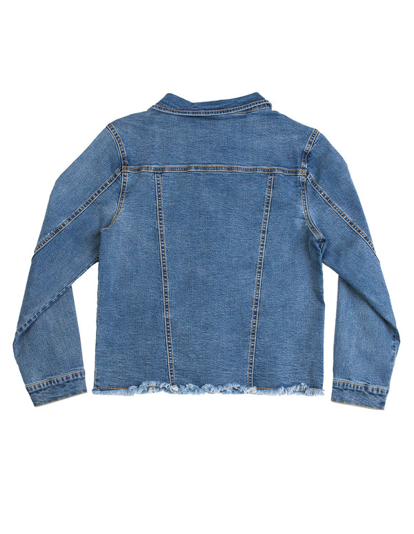 Eve Girl Denim Jacket in blue