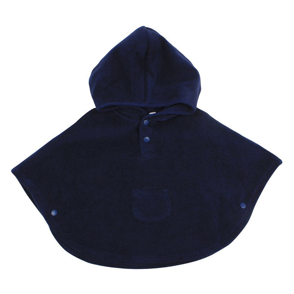 Bebe Hooded Swim Poncho in Navy