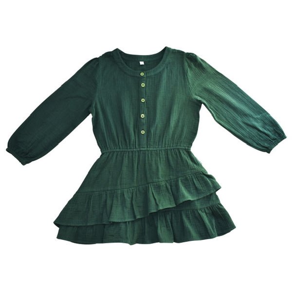 Duke of London Boho Dress in Emerald