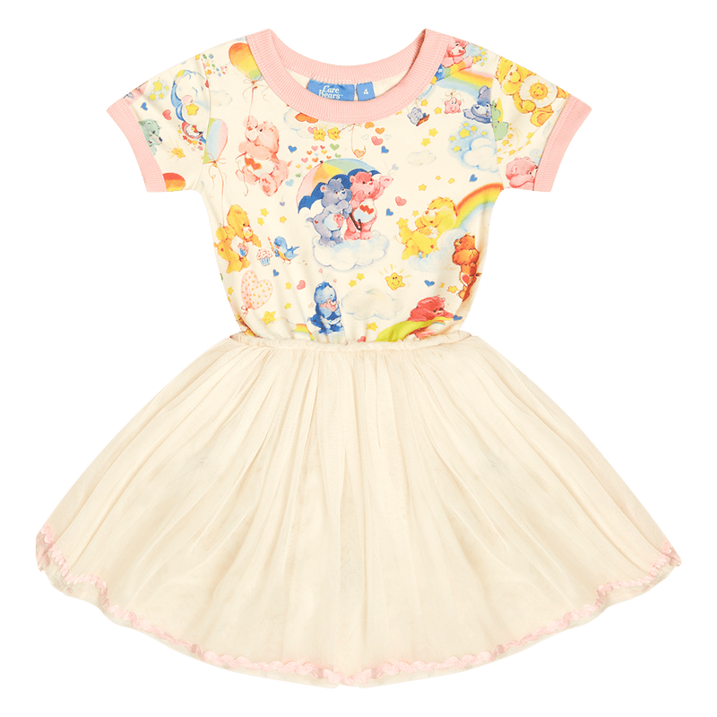 Rock your baby Care Bears listen to your heart Circus Dress in cream
