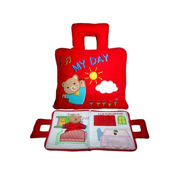 my-day-cloth-book-in-red